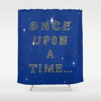 fairy tale Shower Curtains featuring Fairy Tale Beginnings by Fimbis