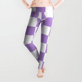 Checkered (Lavender & White Pattern) Leggings