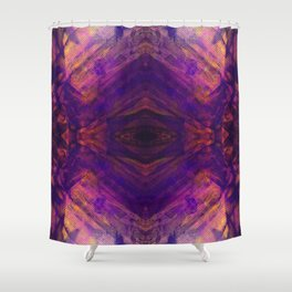 Purple and Orange Stripes Shower Curtain