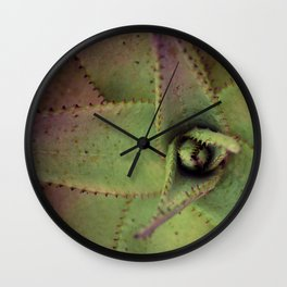 Succulent cactus close-up - Aloe Photography #Society6 Wall Clock