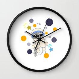 Universe Raccoon Wall Clock