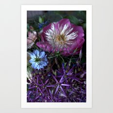 Purple Love Clusters Art Print