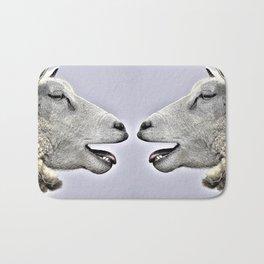Funny Sheep Sketch Bath Mat