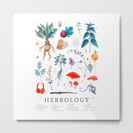 Funny Herbology Harry Plant Flowers Gift Metal Print