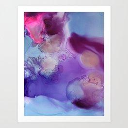 Cosmos Fluid Art Painting Art Print