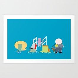 Minimal Squidbillies Art Print