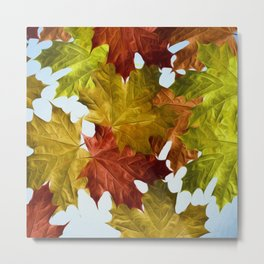 Autumn Leaf Brite Metal Print