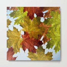 Autumn Leaf Brite Metal Print
