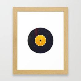 Vinyl Record Star Sign Art | Leo Framed Art Print