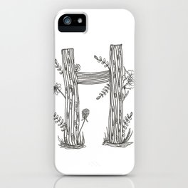 Tree Huggers - Letter H iPhone Case