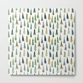 A forest of Christmas trees Metal Print