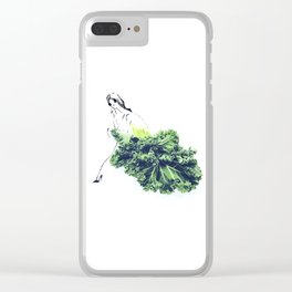 Edible Ensembles: Kale Clear iPhone Case
