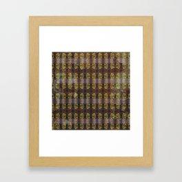 Brass Knuckles Pattern Framed Art Print