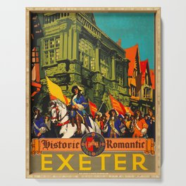 Exeter Travel Poster Serving Tray