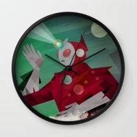 superheroes Wall Clocks featuring Superheroes SF by Scott Balmer