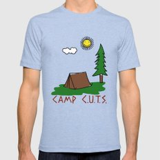Camp C.U.T.S. Tri-Blue MEDIUM Mens Fitted Tee