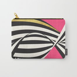 LOVE! – Wavy Stripes on Rich Pink Carry-All Pouch