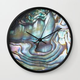 Shimmery Pastel Abalone Shell Wall Clock