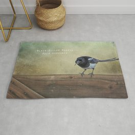 Magpie with a Worm Rug