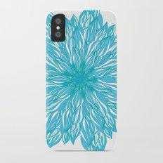 Blue flow er Slim Case iPhone X