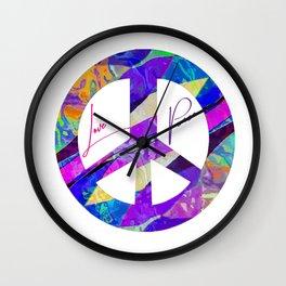 Love & Peace Wall Clock