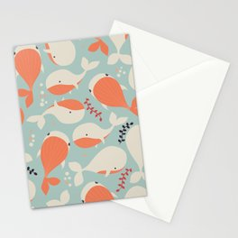 Whales 003 Stationery Cards