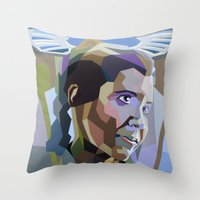 leia Throw Pillows featuring Leia by iankingart
