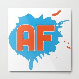 Animation Force Logo (White) Metal Print