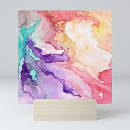 Color My World Watercolor Abstract Painting Mini Art Print