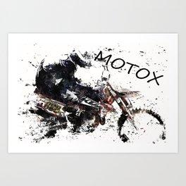Motox Racer Art Print