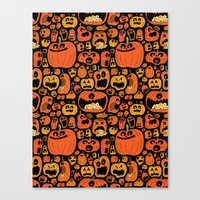 pumpkin Canvas Prints featuring Pumpkin Pattern by Chris Piascik