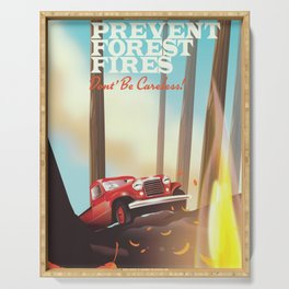 "Prevent forest Fires ""Don't be careless"" Serving Tray"