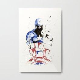 Cap America - Splatter Artwork 2 Metal Print