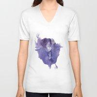 vagina V-neck T-shirts featuring Allie's Vagina No.2 by Nipples of Venus