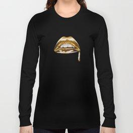 Golden Lips Long Sleeve T-shirt