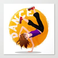 hip hop Canvas Prints featuring Hip Hop by NanaO
