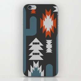 Tribal cacti iPhone Skin