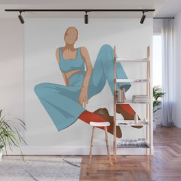 Sit Up Straight Wall Mural
