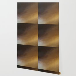 Abstract Beige and Black Shades.   Like painted on canvas. Wallpaper