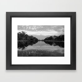 Reflecting Pool- Washington DC Framed Art Print