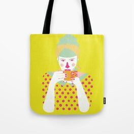 a cup of tea a day Tote Bag