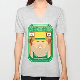 Basketball Green - Court Dunkdribbler - Sven version Unisex V-Neck