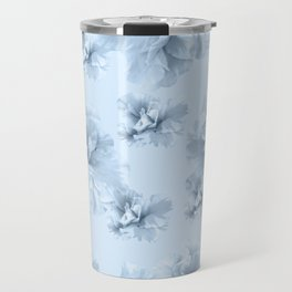 Light Blue Azalea Flower Dream #1 #floral #pattern #decor #art #society6 Travel Mug