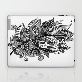 Zentangle Feather Laptop & iPad Skin