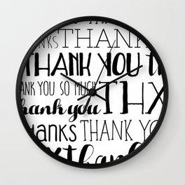 Thank Yous Wall Clock