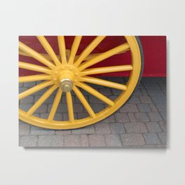 Red and Yellow Plain and Simple Metal Print
