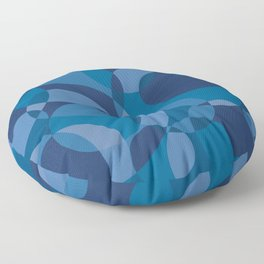 Blue Circles Floor Pillow