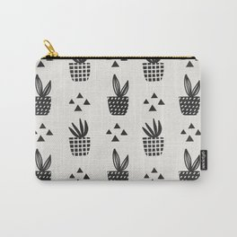 Trendy Stamped Potted Plants Carry-All Pouch