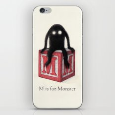 M is for Monster iPhone Skin