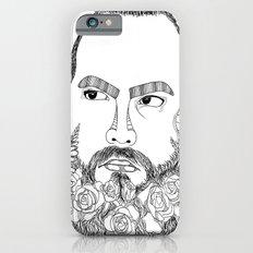 beard's pink flowers iPhone 6s Slim Case